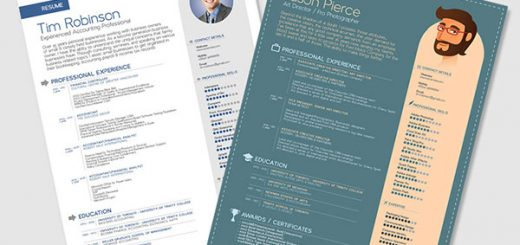 Free-Simple-Resume-Templates-In-Vector-Format